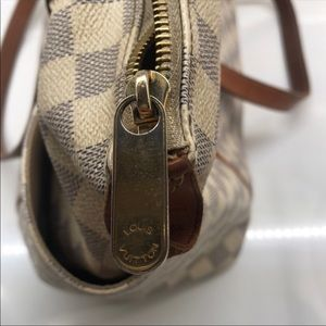 Totally MM Damier Azure Cream & Gray Canvas Tote